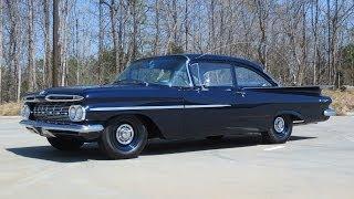 getlinkyoutube.com-1959 Chevrolet Biscayne Duntov V8 Patrol Car Start Up, Exhaust, and In Depth Review
