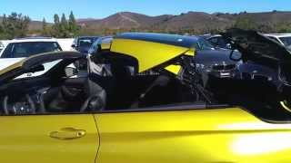 "getlinkyoutube.com-NEW BMW M4 CONVERTIBLE AUSTIN YELLOW BLACK 19"" M Wheel Car Review"