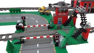 getlinkyoutube.com-Lego train level crossing 10128 automated by Arduino
