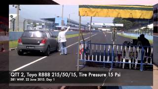 getlinkyoutube.com-Suzuki Swift ZC21S 1600cc Turbo Drag Race 22-23 June 2013