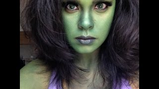 getlinkyoutube.com-Marvel's She-Hulk Transformation/ NYX Face Awards '15 Entry