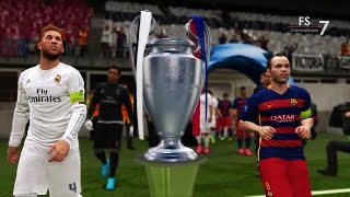 getlinkyoutube.com-Real Madrid vs Barcelona - PES 2016 UEFA Champions League Final | EPIC COMEBACK HD