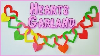 getlinkyoutube.com-DIY crafts: Heart Garland Ana | DIY Crafts.