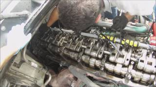 getlinkyoutube.com-How to Replace an injector on a Semi-Truck.  Volvo D16 Engine