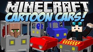 getlinkyoutube.com-Minecraft   CARTOON CARS! (Drive a Ferrari, Jeep, Truck & More!)   Mod Showcase