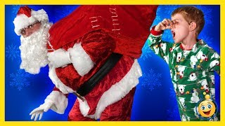 getlinkyoutube.com-Bad Santa Claus Christmas Parody Santa Brings Presents & Toys, LB Pranks Aaron Holiday Toy Kid Video