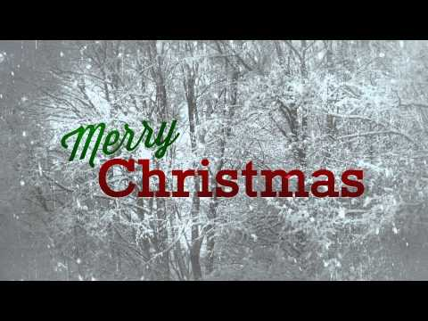 Merry Christmas with Snow - HD Background Loop