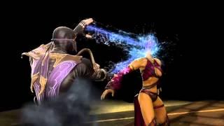 getlinkyoutube.com-Mortal Kombat 9 Komplete Edition (PC)-Rain's Bubble Burst Fatality to ALL GIRLS + DLC COSTUMES