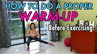 How to do a Proper WARM-UP Before Exercising (5-minute Bodyweight Routine)