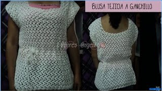 getlinkyoutube.com-PARTE 1 DE 2: BLUSA TEJIDA A GANCHILLO.