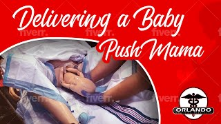 Mannequin giving Birth - Scenario by Orlando Medical Institute Instructors