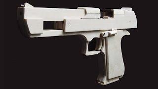 getlinkyoutube.com-Shell Ejection Rubber Band Gun - Mechanism of Desert Eagle