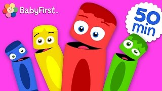 getlinkyoutube.com-All of the Colors | Coloring for Kids | Learn the Colors | Color Crew | BabyFirst TV