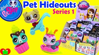 getlinkyoutube.com-Littlest Pet Shop Pet Hideouts Series 1 Blind Bags
