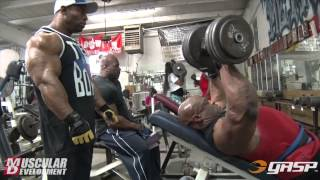 getlinkyoutube.com-Ronnie Coleman and Cory Mathews | Chest Training