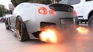 1750HP-Nissan-GT-R-FROM-HELL-Start-Revs-FLAMES width=