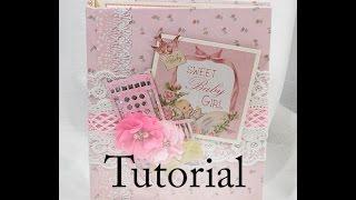 getlinkyoutube.com-Baby Girl KaiserCraft Peek A Boo Scrapbook Mini Album Tutorial