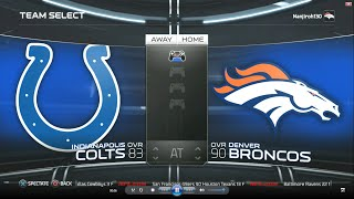 getlinkyoutube.com-Madden NFL 15 | Week 1 Simulation: Colts vs Broncos