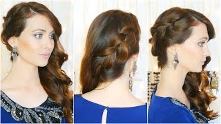 getlinkyoutube.com-Peinado elegante de fiesta/ocasiones especiales. Elegant and Easy Hairstyle for parties| Lizy P