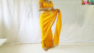 getlinkyoutube.com-Designer Saree Blouse Draping:Beautiful Wedding Sari Choli Stylist Drape