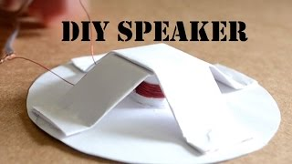 How to make a Homemade Speaker width=