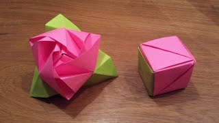 getlinkyoutube.com-How To Make an Origami Magic Rose Cube (Valerie Vann)