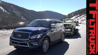 getlinkyoutube.com-2015 Infiniti QX80 takes on the Grueling Ike Gauntlet Towing Test Review