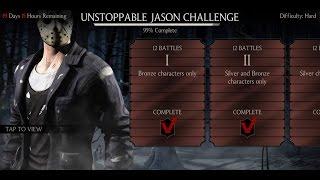 getlinkyoutube.com-Mortal Kombat X Android Desafio / Challenge Jason Unstoppable Hard