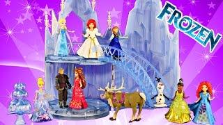 getlinkyoutube.com-New FROZEN Musical Ice Castle Toy Playset Elsa Sings Let It Go Song Disney Princess Magiclip Wedding