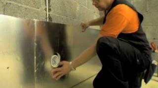 getlinkyoutube.com-Saunan eristäminen SPU Sauna-Satu -eristelevyillä (1/2)