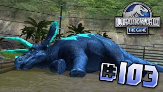 One Sick, Triceratops. Brawlasaurs || Jurassic World - The Game - Ep 103 HD