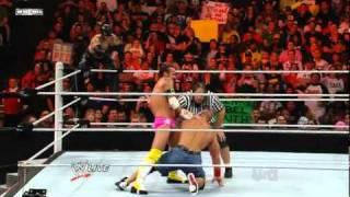 getlinkyoutube.com-John Cena & Rey Mysterio vs CM Punk & R-Truth (Bret Hart Special Ref)