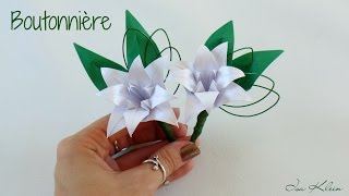 getlinkyoutube.com-Origami: Boutonnière - Flor de Lapela