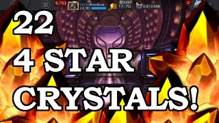 getlinkyoutube.com-22 FOUR STAR CRYSTALS - BLACK WIDOW OR BUST | Marvel Contest of Champions Crystal Opening