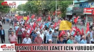 Terör Olaylarını Protesto Etmek İçin Yürüdüler!