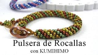 getlinkyoutube.com-Abalorios - Pulsera de Rocalla con Kumihimo