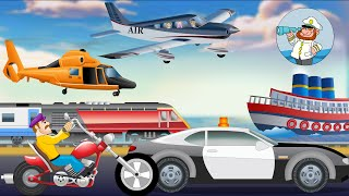 getlinkyoutube.com-Modes of Transport for kids | Learn Transport Vehicles