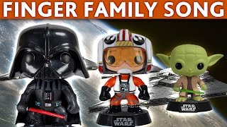 getlinkyoutube.com-DADDY FINGER SONG Star Wars The Force Awakens Funko Toys Yoda Darth Vader Luke Skywalker