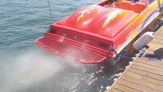 getlinkyoutube.com-2600hp Outerlimits LOUD Startup Rev 575ci Mercury Blower Motors Offshore Footage Sound