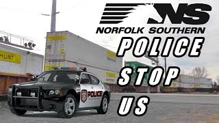 getlinkyoutube.com-Norfolk Southern Police STOP Us and Talked to Train While Railfanning NS Police