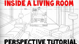 getlinkyoutube.com-How to Draw a Room Using 3 Point Perspective