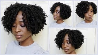 getlinkyoutube.com-Kinky/Curly Afro Deva Cut Crochet Braids: Freetress Urban Soft Dread Hair