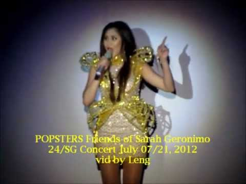 Sarah Geronimo Lumingon Ka Lang @ 24/SG Concert July 07-21, 2012