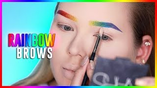 RAINBOW BROWS TUTORIAL! | NikkieTutorials width=