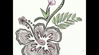 getlinkyoutube.com-Zentangle Flower