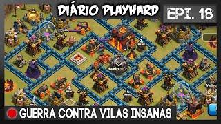 getlinkyoutube.com-Diário Playhard #18 - Guerra contra vilas INSANAS !