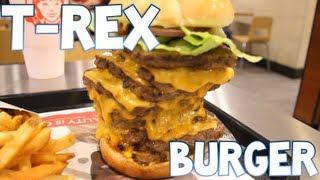 getlinkyoutube.com-T-Rex Burger From Wendy's Devoured (3,360 Calories) | Furious Pete