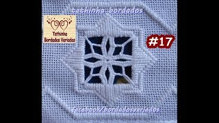 getlinkyoutube.com-Tathinha Bordados #17 - PONTO ROSETA HARDANGER - BORDADO