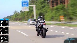 getlinkyoutube.com-BMW M5 vs R6 vs CBR 600 RR - TOP SPEED - Part 1 [1080p]