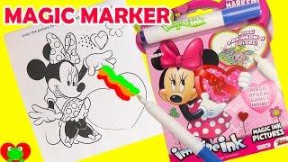 getlinkyoutube.com-Minnie Mouse Imagine Ink Magic Marker Coloring and Shopkins Season 7 Surprises